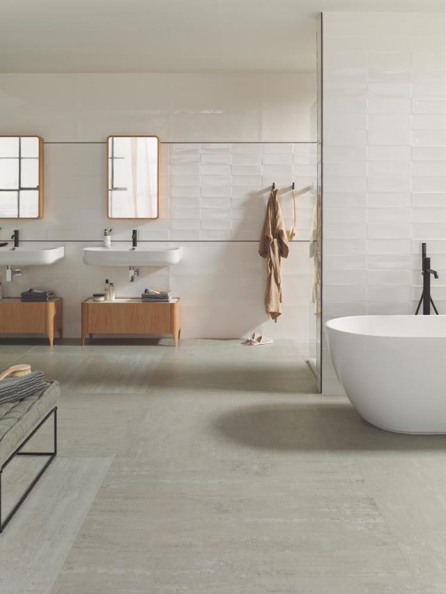 Porcelanosa Retro Studio White 316x900 Installed 1