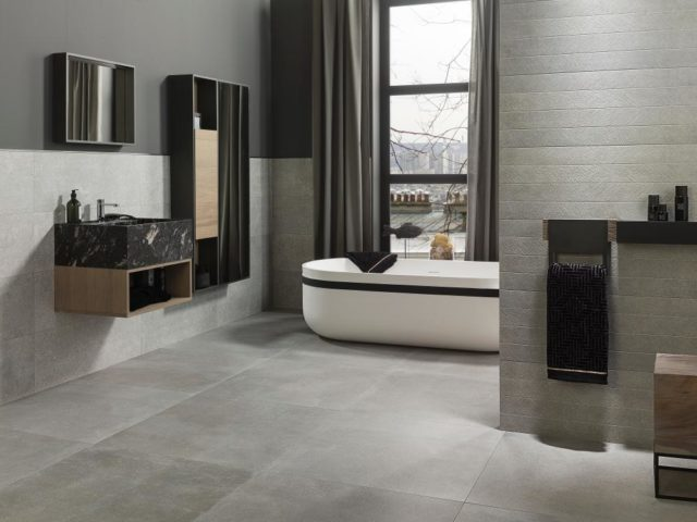 Porcelanosa Bottega Acero 596x596 Installed 1