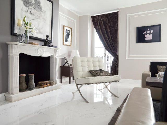 Porcelanosa Carrara Blanco Brillo 596x596 Installed 2