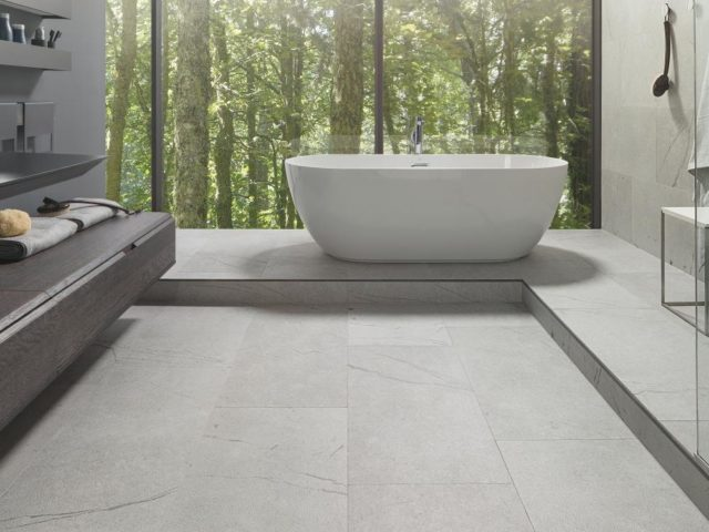 Porcelanosa Teide Stone 450x900 Installed